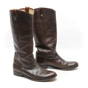 Frye Melissa Button Boots 11 B Brown Leather